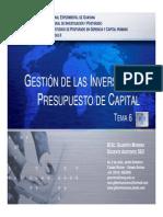 Material de Estudio. Tema 6. Gestión de Las Inversiones