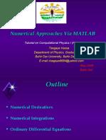 Numerical Approaches via MATLAB