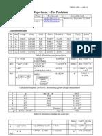 Romil Patel Lab 3-1 Simple Pendulum Report