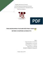 2do Avance Paper tasa de rendimiento