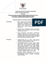 KMK No. 1225 Th 2007 Ttg Pedoman Sisfo Laboratorium Kesehatan (SILK)