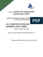 La Construccion Del Número en El Niño