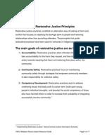 Restorative Justice Principles
