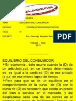 Clase Nº 07 Equilibrio Del Consumidor - Copia