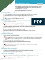 Residency Checklist 2016