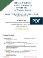 2015 CN3132 II Lecture 01 Mass Transfer Models