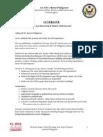 YES Alumni Philippines Anthology Guideline