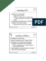 Installing ATP