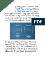 Hướng Dẫn Kiểm Tra iPhone 6S Sử Dụng Chip Samsung Hay TSMC