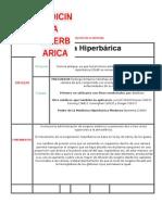 Medicina Hiperbarica bases biofisicas moleculares y estandares