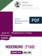 Literatura Aula07 Modernismo2afase Romance 140528111726 Phpapp01