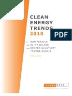 Clean Energy Trends 2010