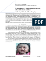 Proptosis and Facial Nerve Palsy as a Sole Manifestation of Acute Myeloid Leukemia in Infant