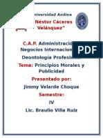 Principos Morales y Publicidad
