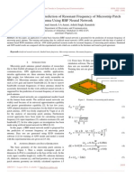 Investigations for the Prediction of Resonant Frequency of Microstrip Patch Antenna Using RBF Neural Network