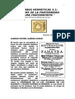 Syllabus 22-Fama Fraternitatis