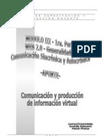 MODULO III - Apunte 1era.Parte WEB 2.0 Comunicación