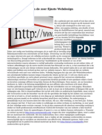 Top kenmerken van de zeer fijnste Webdesign