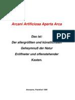 Anonymo - Arcani Artificiosa Aperta Arca (1589)