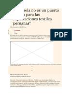 Venezuela No Es Un Puerto Seguro Para Las Exportaciones Textiles Peruanas_578