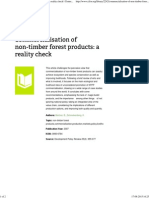 Commercialisation of Non-timber Forest Products