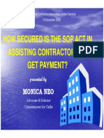 How secured is the SOP Act in assisting Contractors to get payment