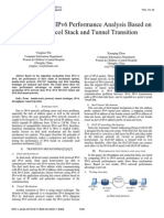 Research on the IPv6 Performance Analysis Based on Dual-protocol Stack and Tunnel Transition