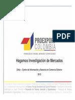 Proexport - Como Se Hace Una Investigación de Mercados