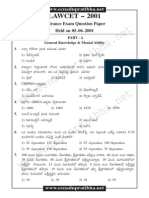 AP LAWCET 2001 Previous Question Paper with Answers
