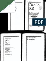 Danilo Kis La Enciclopedia de Los Muertos