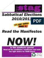The Stag - Sabbatical Elections 2010 Special