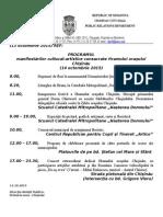 13.10.2015_programul Manifestarilor Hram