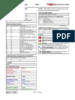Toyota Tundra TRD Sway Bar Installation Instructions