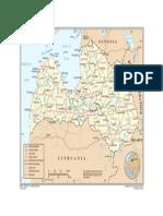 Latvia carthography