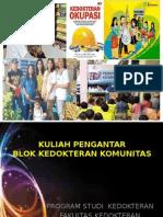 Kuliah Pengantar Blok Kedokteran Komunitas 2015