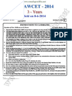 LAWCET 2014 -3 year LLB Course Question Paper & Key Download