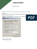 Rapport GAR Windows Administration