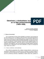 Obrerismo y Sindicalismo Murciano en La Fase Primorriverista (1923-1930)