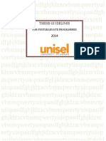 Thesis Guideline 2014