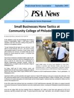 Professional Service Association Newsletter September 2015