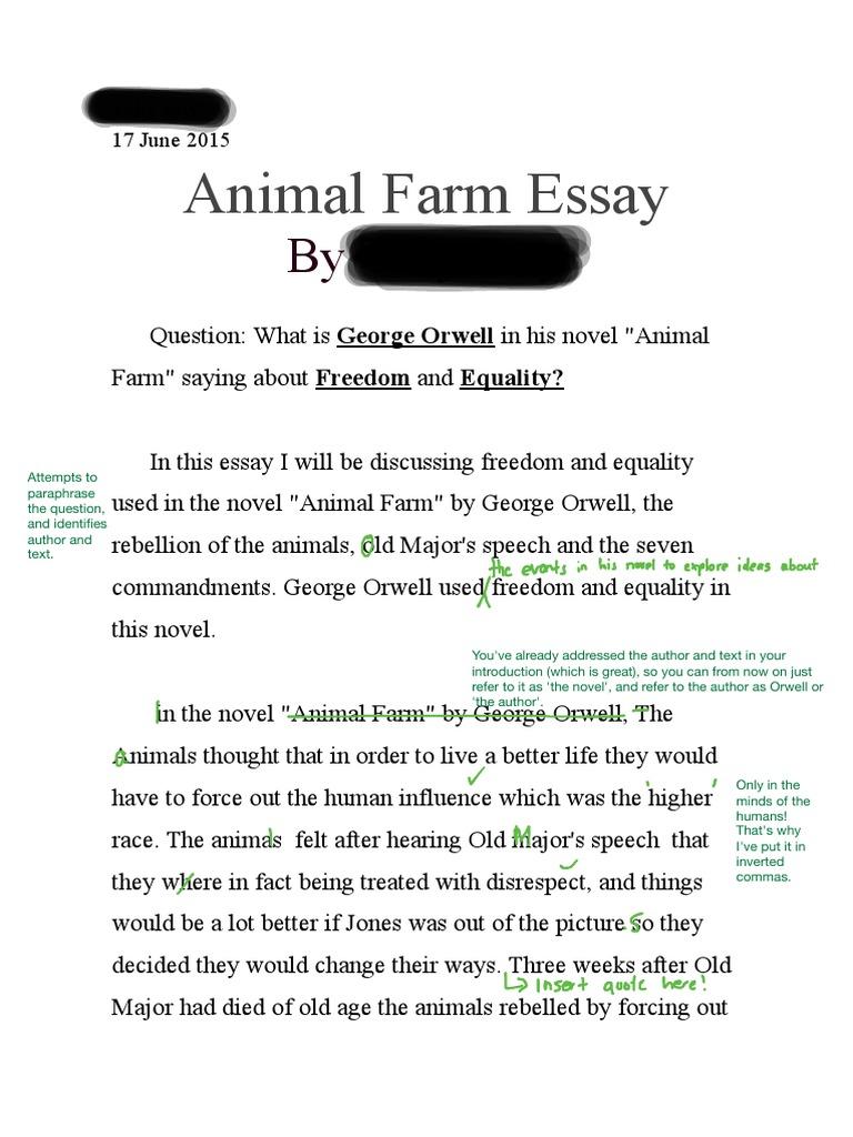 freedom in animal farm