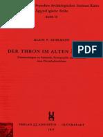 Kuhlman, Der Thron Im Alten Agypten