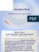 Law Student Rule