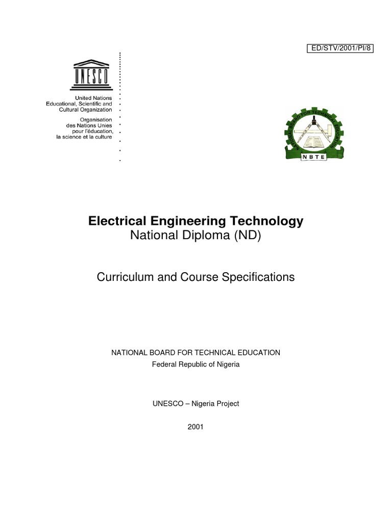 Electrical Engineering Syllabus Hnd 2 Educational Assessment Simple Circuit Showing Current Flow By Pmb 300 Ad Curriculum