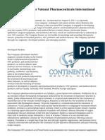Company Profile for Valeant Pharmaceuticals International Inc