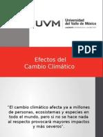 Efectos de Cambio Climatico