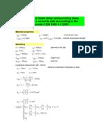 Calculation Eurocode 2