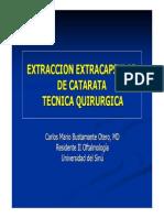 Catarata Tecnica Quirurgica Extracapsular