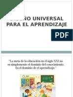 Presentación DUA Diseño Universal de Aprendizaje