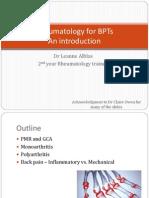 Rheumatology - For BPTs